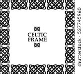 celtic knot square frame | Shutterstock .eps vector #537745960