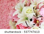flowers bouquet decoration with ... | Shutterstock . vector #537747613