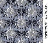 floral  baroque seamless... | Shutterstock .eps vector #537753184