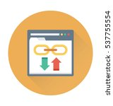 link building vector icon  | Shutterstock .eps vector #537755554