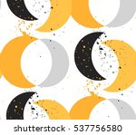 hand made vector abstract... | Shutterstock .eps vector #537756580