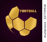 Golden Soccer Ball. The...