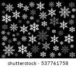 snowflakes vector illustration... | Shutterstock .eps vector #537761758