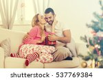 couple in love with christmas... | Shutterstock . vector #537769384