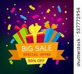 vector illustration. big sale... | Shutterstock .eps vector #537772954