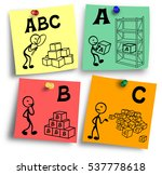 illustration of abc analysis... | Shutterstock . vector #537778618