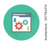 web development vector icon  | Shutterstock .eps vector #537781474
