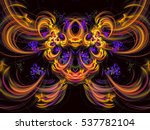 Abstract Multicolored Fractal....