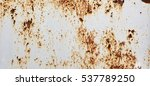 white rust metal decayed... | Shutterstock . vector #537789250