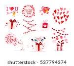 watercolor artistic love...   Shutterstock . vector #537794374