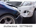 car crash from car accident on... | Shutterstock . vector #537798400