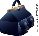blue valise with two pockets   Shutterstock .eps vector #537801940