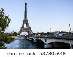 the eiffel tower from the river ... | Shutterstock . vector #537805648