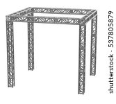 steel truss girder rooftop... | Shutterstock . vector #537805879