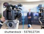 video camera in focus  blurred... | Shutterstock . vector #537812734