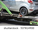 new car on the trailer vehicle | Shutterstock . vector #537814900