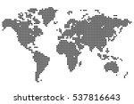 point detailed world map made...   Shutterstock .eps vector #537816643