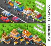 street food isometric concept | Shutterstock . vector #537824200