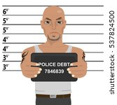 latino gangster with tattoos... | Shutterstock .eps vector #537824500