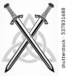 viking swords  vector... | Shutterstock .eps vector #537831688