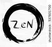 zen word in enso circle on... | Shutterstock .eps vector #537831700
