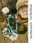 serving table with traditional...   Shutterstock . vector #537835018