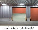 roller shutter door and... | Shutterstock . vector #537836086