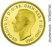 1937 george vi proof gold... | Shutterstock . vector #537840760