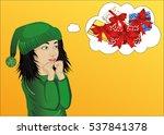 wow. girl very surprised....   Shutterstock .eps vector #537841378