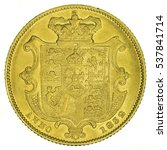 william iv gold sovereign. coin ... | Shutterstock . vector #537841714