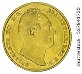 william iv gold sovereign. coin ... | Shutterstock . vector #537841720