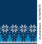 knitted christmas and new year... | Shutterstock .eps vector #537849070