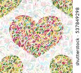 Colorful Ornate Floral Hearts...