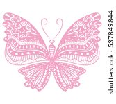 beautiful butterfly. vector... | Shutterstock .eps vector #537849844