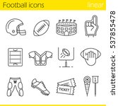 american football linear icons... | Shutterstock .eps vector #537855478