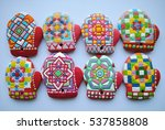 colorful decorated gingerbread... | Shutterstock . vector #537858808