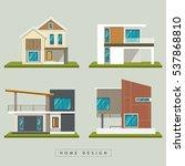 home exterior design... | Shutterstock .eps vector #537868810