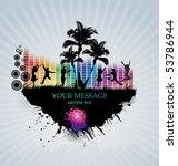 colour grunge the poster   Shutterstock .eps vector #53786944