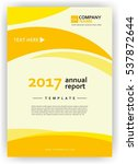 cover report annual flyer poster | Shutterstock .eps vector #537872644
