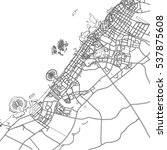 black   white vector map of... | Shutterstock .eps vector #537875608