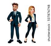 elegant boy and girl. vector... | Shutterstock .eps vector #537876748