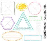 blank postal stamps set... | Shutterstock .eps vector #537882706