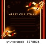 christmas seasons postcard | Shutterstock . vector #5378836