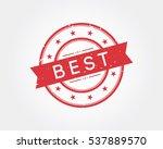 best. stamp sign | Shutterstock .eps vector #537889570