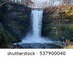 minnehaha falls in minneapolis... | Shutterstock . vector #537900040