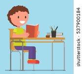 cheerful schoolboy  student ...   Shutterstock .eps vector #537900184