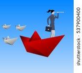 leading the fleet business... | Shutterstock .eps vector #537900400