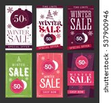 winter sale abstract mobile... | Shutterstock .eps vector #537900946