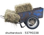 Wheelbarrow With Hay On The...
