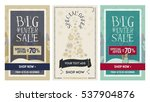 set web banner and poster big... | Shutterstock .eps vector #537904876